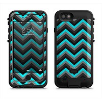 The Turquoise-Black-Gray Chevron Pattern Apple iPhone 6/6s LifeProof Fre POWER Case Skin Set