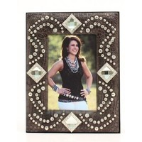 Western Moments Crystal Bling 4x6 Western Picture Frame
