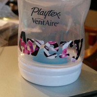 Personalized Muddy Girl Playtex VentAir Baby Bottle