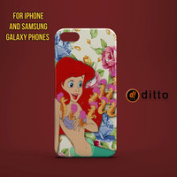 ARIEL MERMAID SEAHORSES Design Custom Case by ditto! for iPhone 6 6 Plus iPhone 5 5s 5c iPhone 4 4s Samsung Galaxy s3 s4 & s5 and Note 2 3 4
