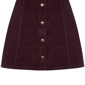 New In | Red Cord Button Mini Skirt | Oasis