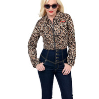 Leopard Print Crop Cut Eisenhower Jacket