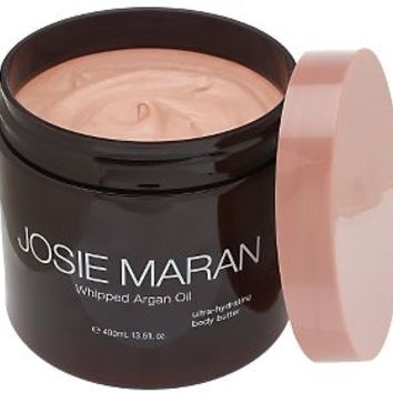 Josie Maran 13.5 oz Deluxe Argan Whipped Illuminizing Body Butter — QVC.com