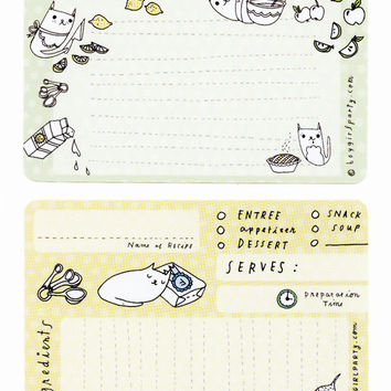 Cat Recipe Cards (Set of 10)