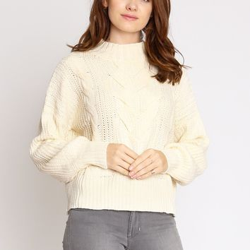 Imogen Cable Knit Sweater | Ruche