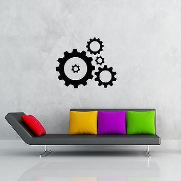 Wall Stickers Vinyl Decal Abstract Decor Modern Style Mechanism Unique Gift z1223