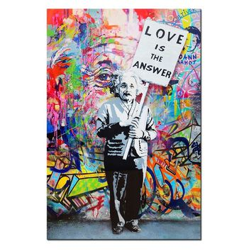 Wall Decor Picture Banksy Graffiti Art for Home Decor Paintings Printed On Canvas (Frame:No)(Colour: Multicolour)