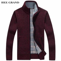 Men Smart Stand Collar Cardigan