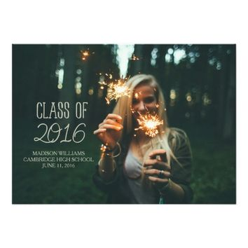 Class of 2016 Add Your Photo Graduation Party 5x7 Paper Invitation Card