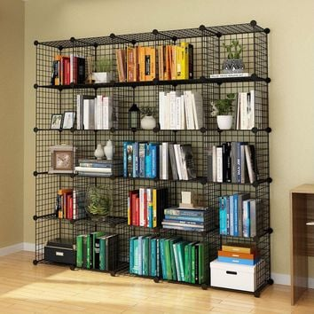 Black Cube Organizer System For Bedroom Office Home Storage