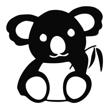 Koala Bear Eating Bamboo Die Cut Vinyl Decal Sticker