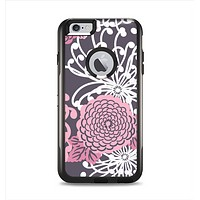 The Pink and White Solid Flowers Apple iPhone 6 Plus Otterbox Commuter Case Skin Set
