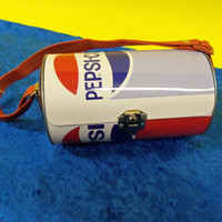 Pepsi Cola Metal Tote Purse or Handbag Small Lunchbox