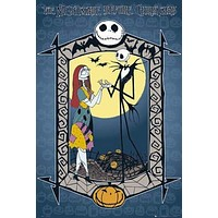 THE NIGHTMARE BEFORE CHRISTMAS POSTER Couple NEW 24x36