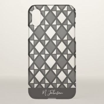 Personalized Tridiamond Patterned iPhone X Case