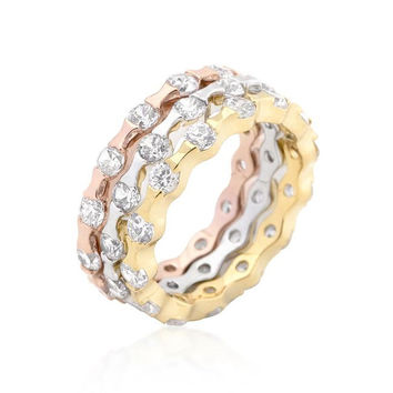 Metallic Cascade Ring Set