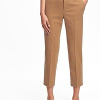 Mid-Rise Harper Brushed-Twill Trousers for Women | Old Navy
