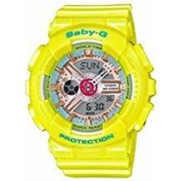CASIO BABY-G YELLOW WATCH BA110CA-9A