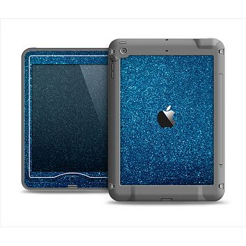 The Blue Sparkly Glitter Ultra Metallic Apple iPad Mini LifeProof Nuud Case Skin Set