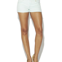 High-Waist Cuffed Jean Shorts | Arden B.