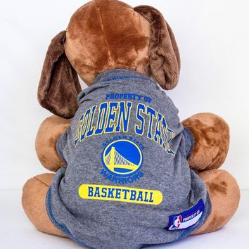 Golden State Warriors Dog Shirt NBA Basketball Officially Licensed Pet Product