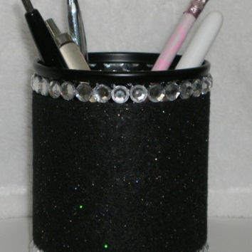 Black & Bling Pen/Pencil Cup Holder