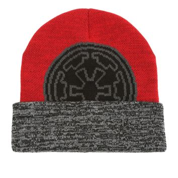 Licensed cool STAR WARS Galactic Empire Intarsia Watchman Beanie Hat Knit Ski Cap Licensed NWT