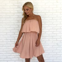 Flyaway Little Pink Jersey Dress
