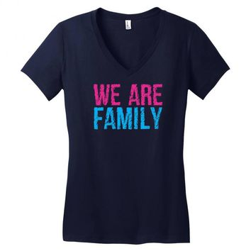we are family Women's V-Neck T-Shirt