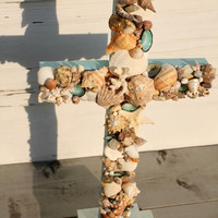 Wedding Altar Cross/Seashell Cross/Beach Wedding Cross