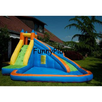 inflatable slide bouncer with pool for kids,newest and hot sale home use jumping castles inflatable water slide,pool slides