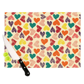 "Louise Machado ""Little Hearts"" Cutting Board"