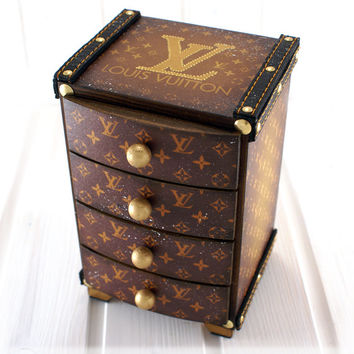 Louis Vuitton LV replica logo Mini chest of drawers,Vuitton inspired