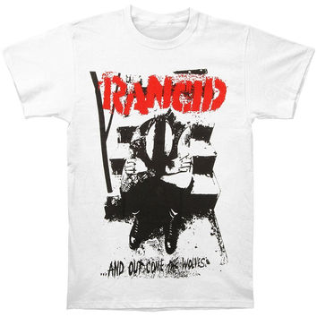 "Rancid's ""Out Came The Wolves"" Print White T-shirt...Rancid Hooligans, Punk"