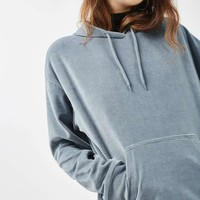 Oversized Velvet Hoodie - New In