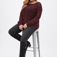 FOREVER 21 PLUS Diamond-Knit Sweater