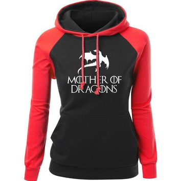 Mother Of Dragons Women Tight Hoodie Sweaters