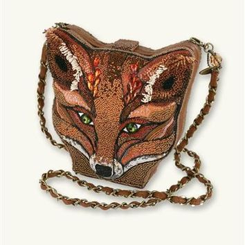 Mary Frances Foxy Lady Handbag | Beaded Fox Purse
