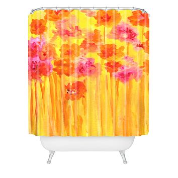 Rosie Brown Waiting For Spring Shower Curtain