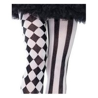 Amazon.com: Leg Avenue Harlequin Stripe & Checkered Tights Joker Gothic Punk Emo Psychobilly Halloween: Everything Else
