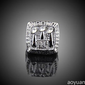 aoyuan Championship rings, 2007  York Giants Super Bowl championship rings, sports fans rings,