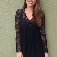 Amara Lace Dress - Black