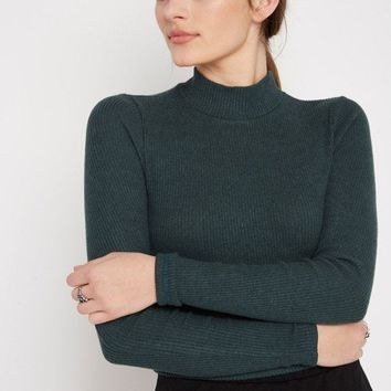 Cozy Heathered Turtleneck Sweater Top