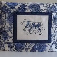 Toaster Cover -  Blue and White