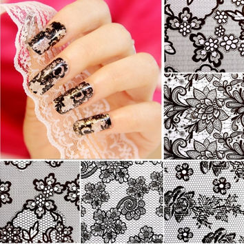 New 20 Sheets Nail Art Flower Transfer Foil Stickers DIY Manicure Tips Decal Decoration
