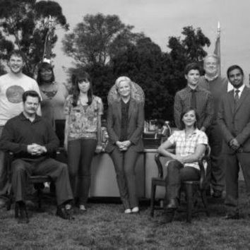 Parks And Recreation Poster Standup 4inx6in black and white