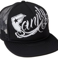Famous Stars and Straps Men's Family Stencil Trucker Hat, Black/White, One Size