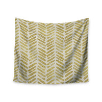 """888 Design """"Golden Vision"""" Yellow White Wall Tapestry"""