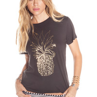 AMUSE - Pineapple Boyfriend Tee / Black
