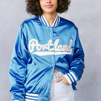 Silence + Noise Portland Baby Satin Bomber Jacket - Urban Outfitters